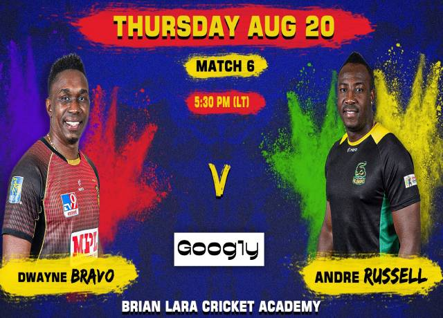 CPL 2020, 6th Match : TKR vs JT live score & steaming