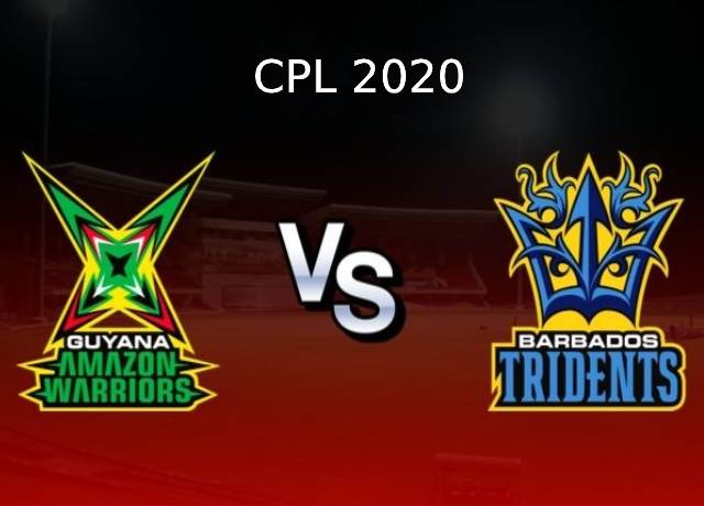 CPL 2020, 22nd Match : GAW vs BT live score & streaming