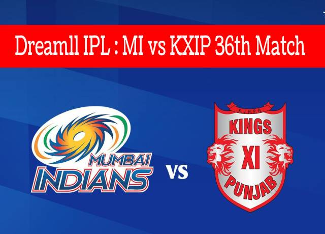 MI vs KXIP 36th match
