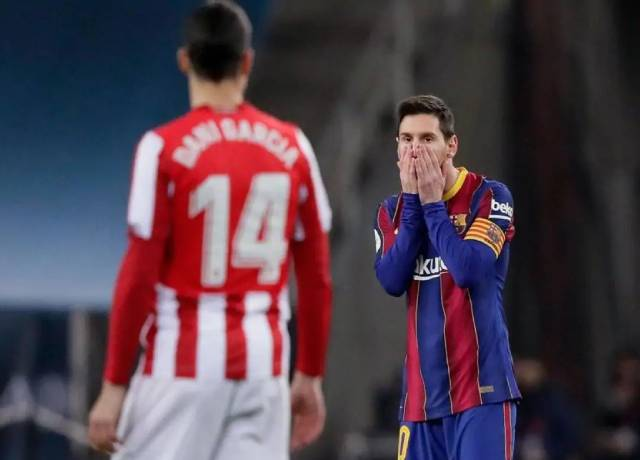 Messi got his first red card as a Barcelona player
