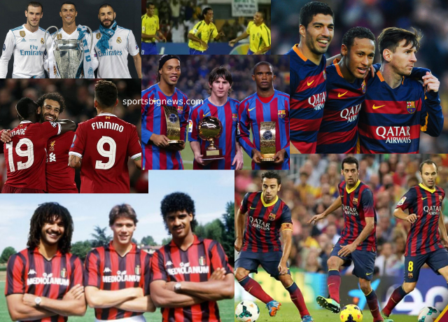 Top 10 football trios of all time