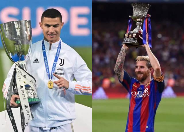 Take a look on Messi and Ronaldo's incredible trophy cabinet