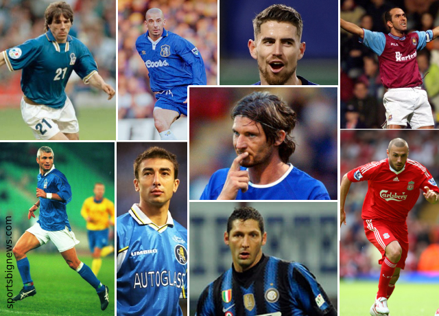 Top 10 greatest Italian players ever played in Premier League