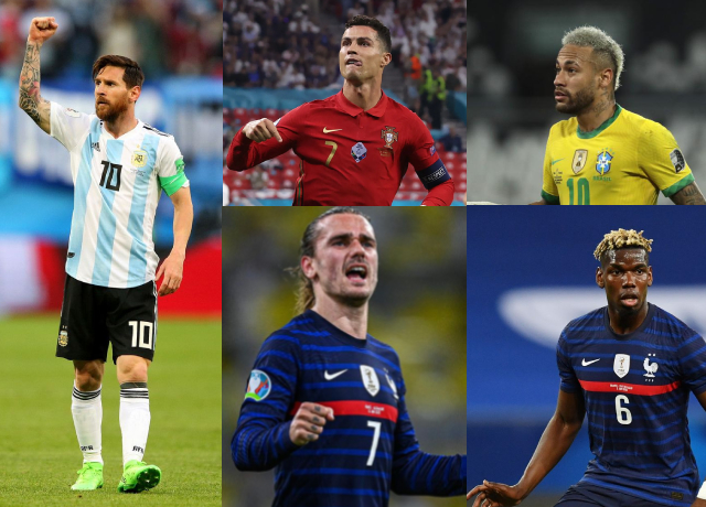 Updated list: World's highest-paid football players