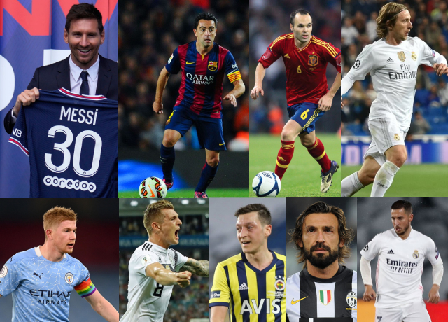 Top 10 greatest playmakers in football history