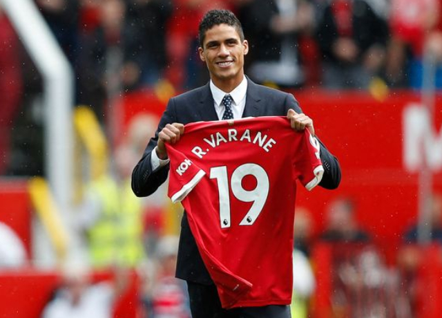 Raphael Varane was so confident that he chose to speak English in his first PL interview