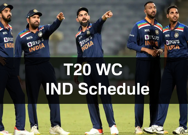 T20 World Cup: Team India Schedule, Squad, Time & Date