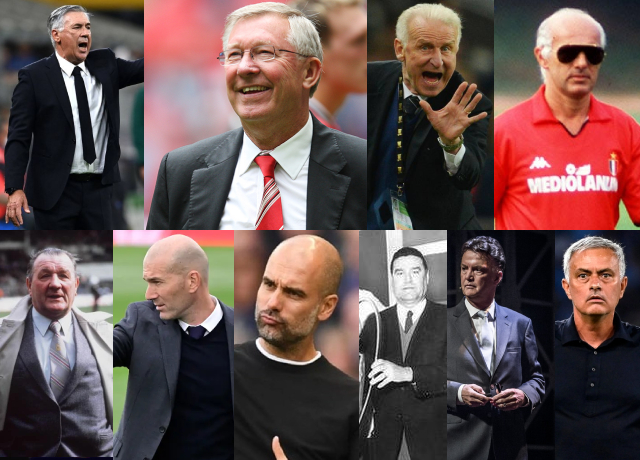 Top 10 Coaches With Most UEFA Club Competition Trophies