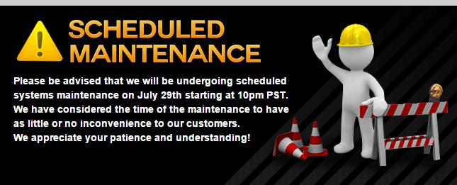 Sportsbooks maintenance message