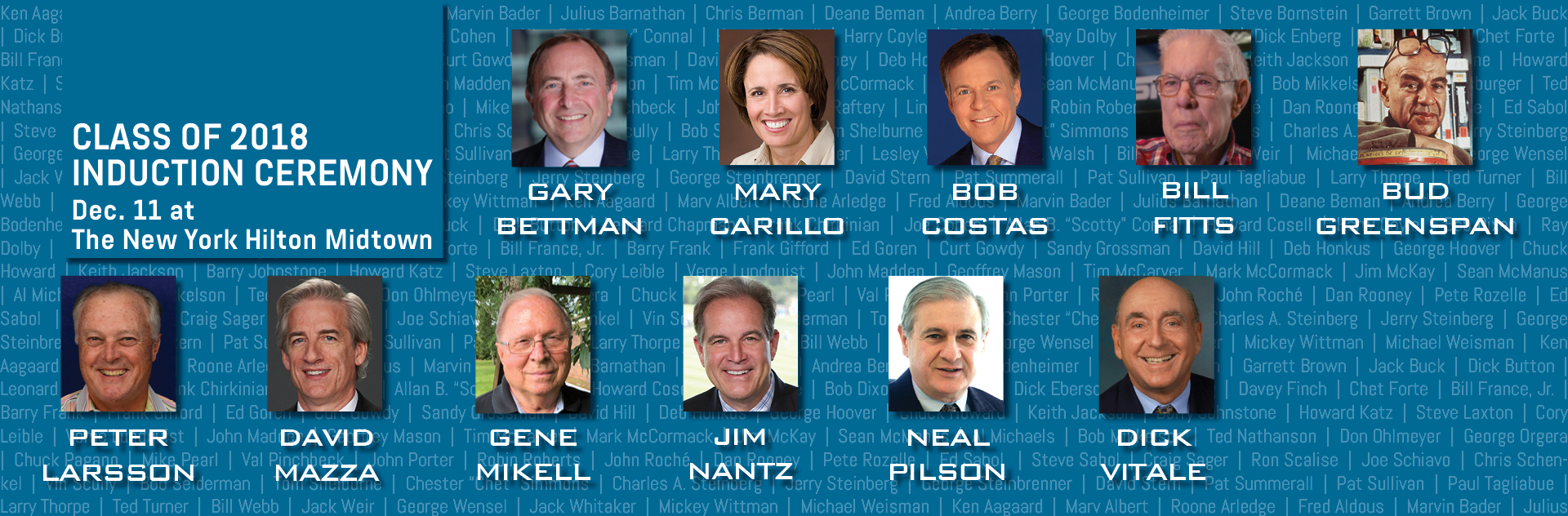 Sports Broadcasting Hall of Fame Announces Class of 2018