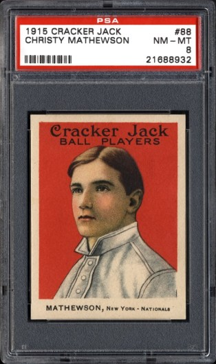 1915 Cracker Jack Christy Mathewson NM MT 8 front