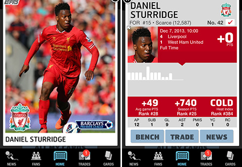 Digital Topps Cards For Premier League Soccer