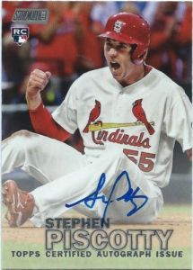 2016 Topps Stadium Club Baseball Stephen Piscotty Autograph Card