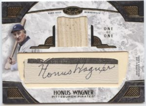 2016 Topps Tier One Honus Wagner Cut Auto Relic Card