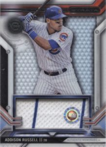 2016 Topps Strata Addison Russell Relic Card