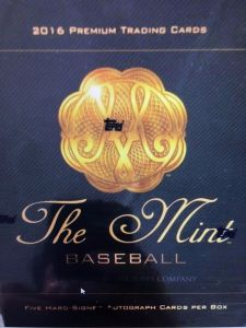 2016 Topps The Mint Hobby Box