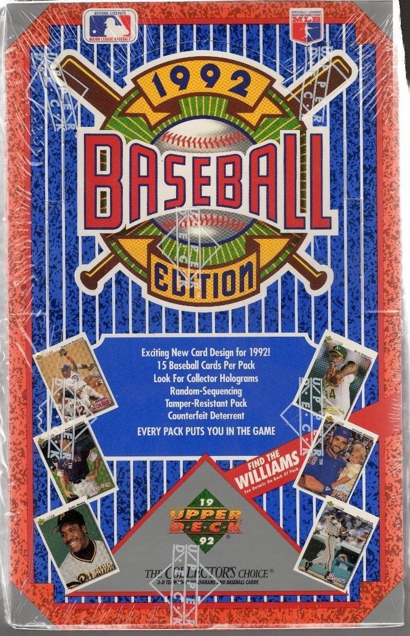 1992 Upper Deck Baseball Price Guide Sports Card Radio
