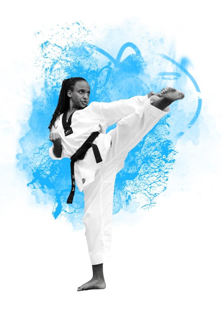 Taekwondo, Tae-Kwon-Do, Kampfkunst, Selbstverteidigung, Fitness, Elastizität, gewichtsreduktion, Shaolin Kung Fu, David Kumar, Sportschule Alex, MMK GALLERY
