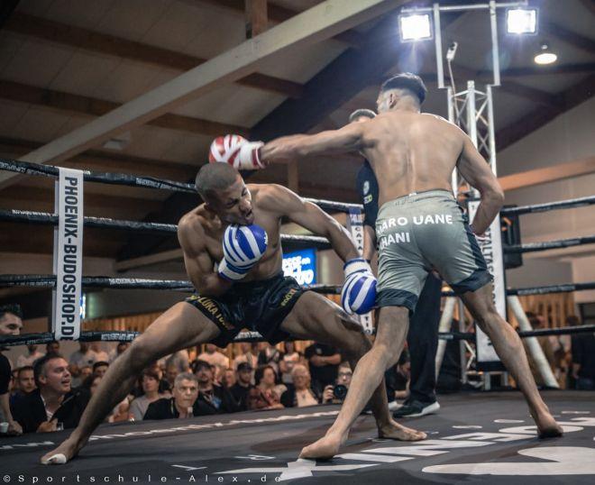 Luka Touon von der Sportschule Alex, kämpft im Kickboxen K1 bei der Phönix Fight Night 2017, Gala Verband: WKU Foto: Marcela Kamanis