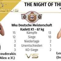 Raphael Mavrouderakis kämpft um die Profi Deutsche Meisterschaft der WKU