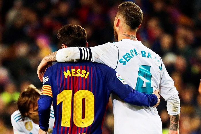 Image result for messi ramos