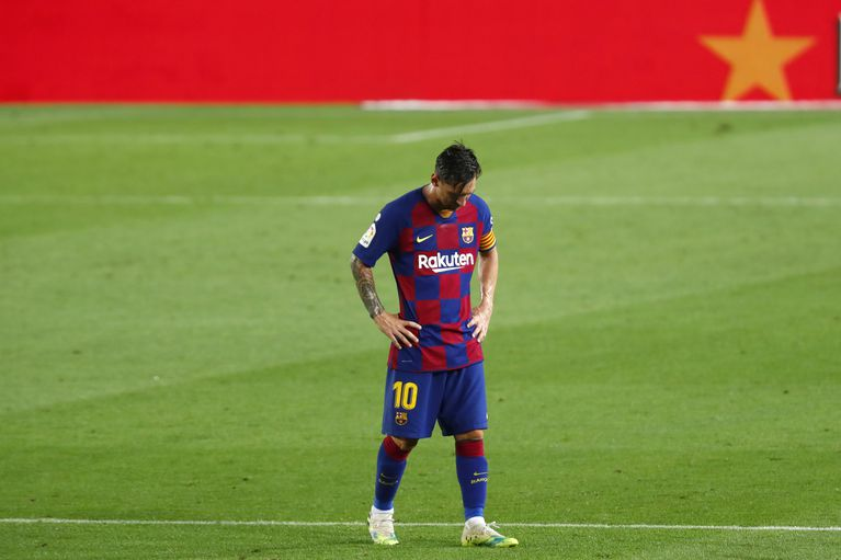"""Messi blasted his team for being """"weak"""" after Real Madrid wrested the LaLiga title away from Barcelona for the first time in three years on Thursday"""