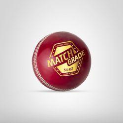 ExternalLink match grade cricket leather ball red 30