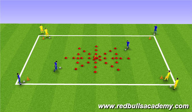 Football Soccer Dribbling Small Spaces Island Trees