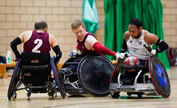 Sports For Champions very own Paralympic athlete training for his wheelchair rugby event in the Tokyo 2020 games.