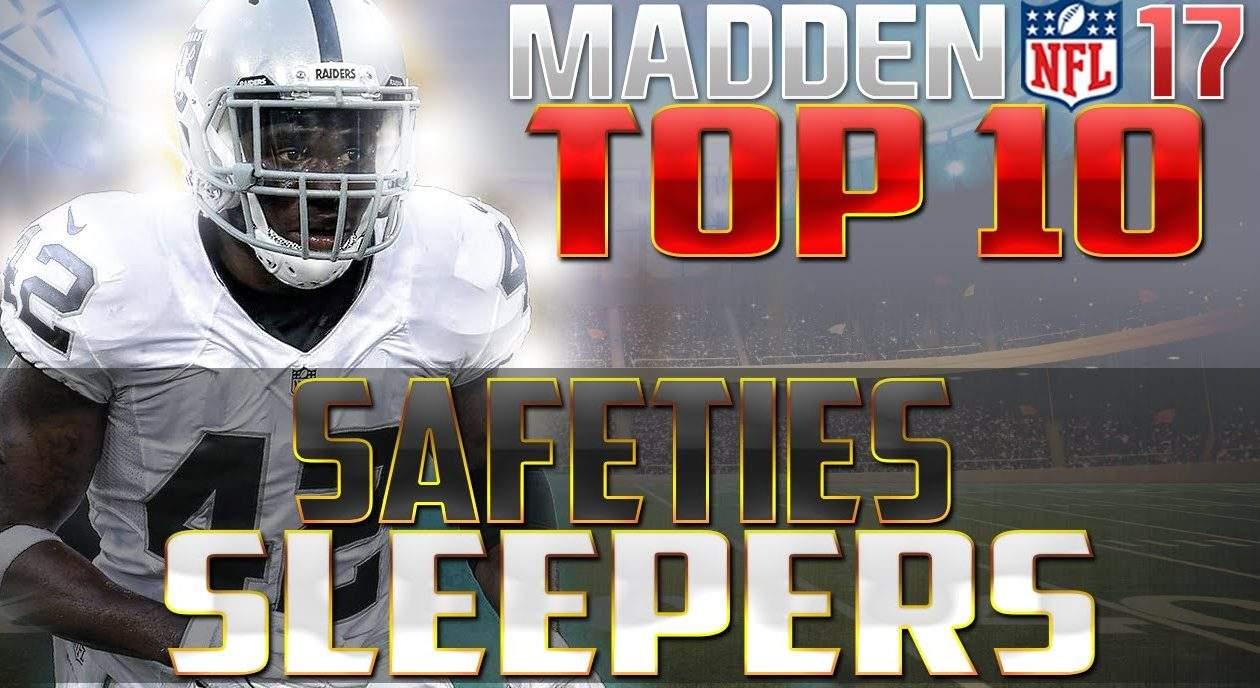 Madden NFL 17 Sleeper Safeties