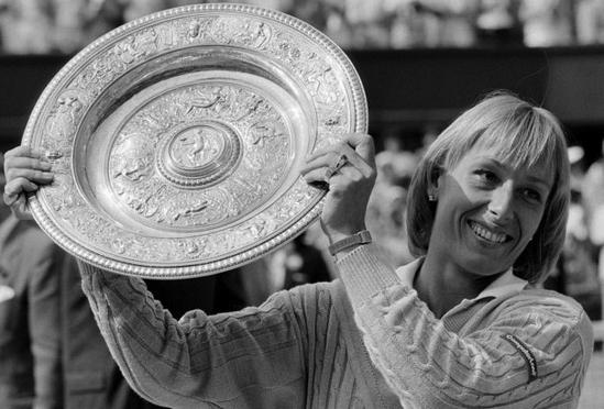 Martina Navratilova nine times wimbledon ladies' champions