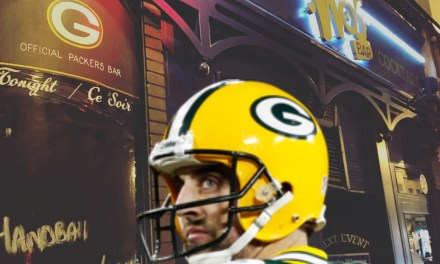 Aaron Rodgers Visits Official Packers Bar in Paris