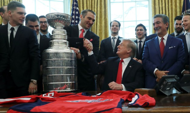 Trump Hails 'Alexander the Great' Ovechkin as Caps Visit White House
