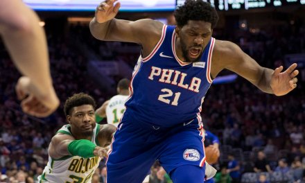 Marcus Smart Ejected After 'Cheap Shot' Shove of Joel Embiid