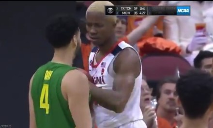 Oregon Player Steals a Foul on the Worst Flop of the NCAA Tournament