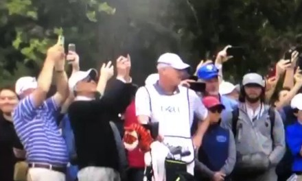 Tiger Woods' Caddy Got Into it With a Fan