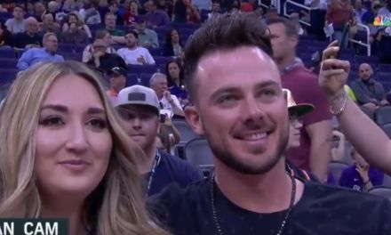 Kris Bryant and His Wife Were at the Bulls Game After He Proved He Can Dunk