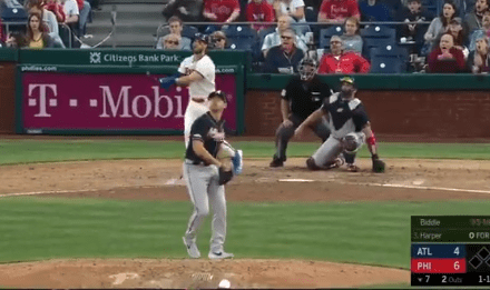 Bryce Harper Hit a 465 Foot Bomb for His First Home Run as a Phillie