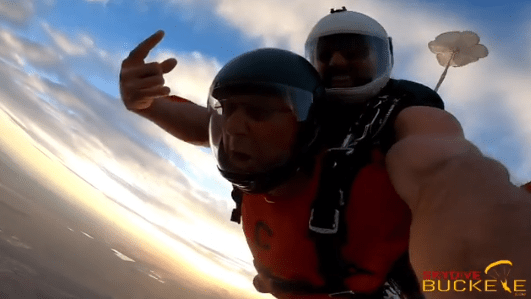 Terry Francona Took Members of the Indians Coaching Staff Skydiving