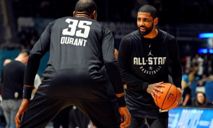 Kyrie Irving and Kevin Durant Rumored to Talk or Text Every Day