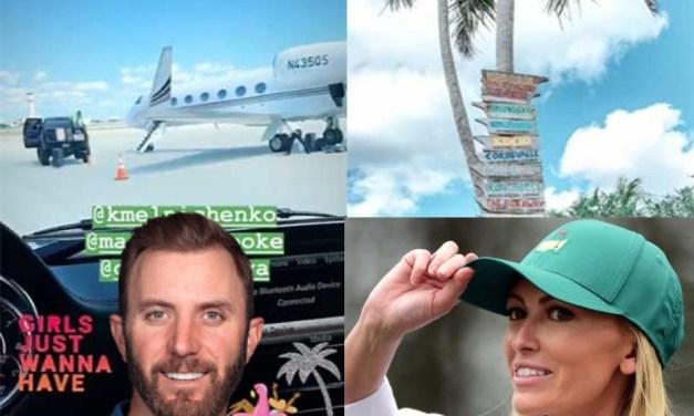 Paulina Gretzky and Dustin Johnson Enjoying a Bahamian Vacation