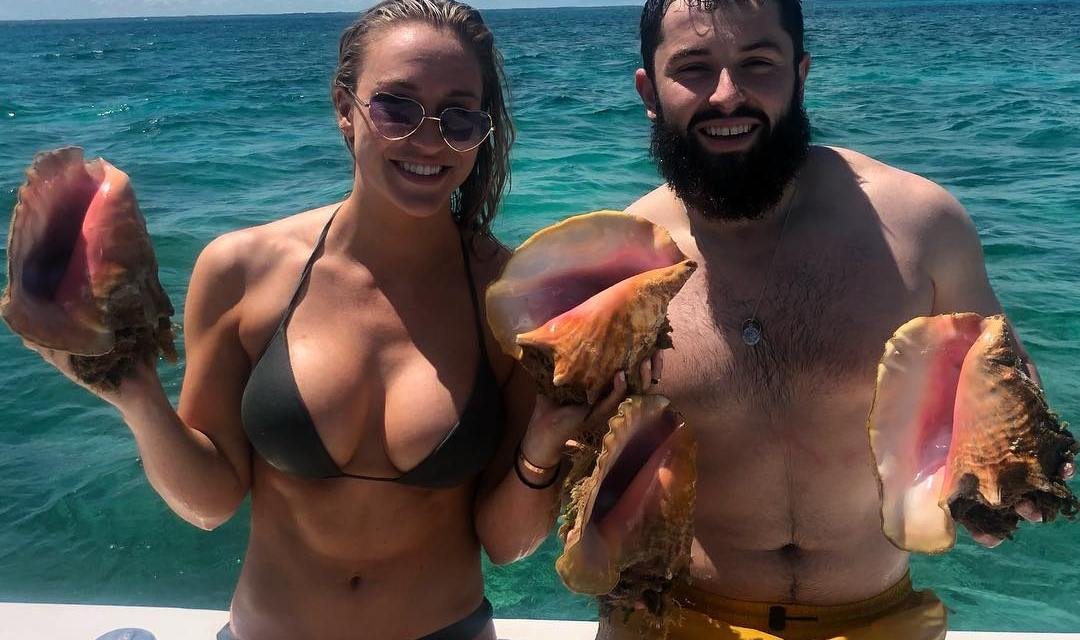 Emily Wilkinson Gives Baker Mayfield a Birthday Shoutout From the Bahamas