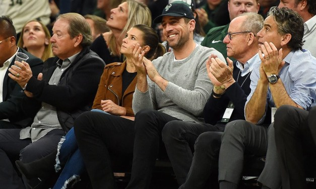 Aaron Rodgers and Danica Patrick Took in Some Bucks Playoff Basketball