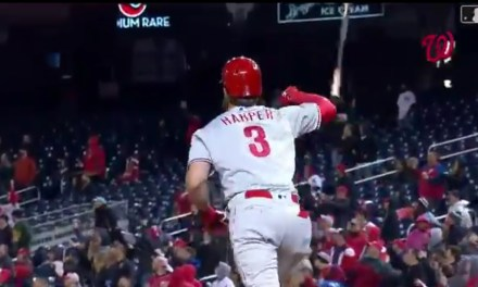 Bryce Harper Hit a Monster Home Run in Return to Washington and Topped it Off With an Epic Bat Flip