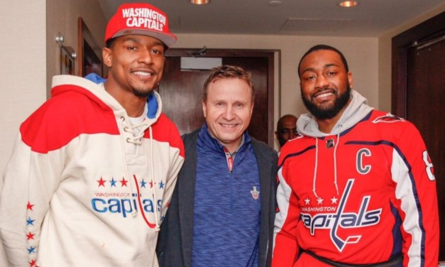 John Wall Attended the Caps Playoff Game With the Help of a Knee Walker