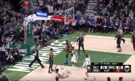 Andre Drummond Was Ejected for Shoving Giannis Antetokounmpo to the Floor