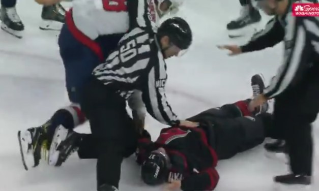 Alex Ovechkin Knocked Andrei Svechnikov Out Cold With a Couple of Big Right Hands