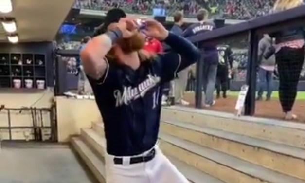 Brewers Player Shotguns Red Bull Before Every Game