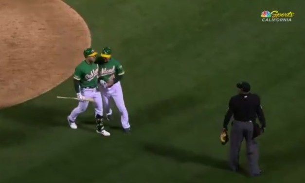 Las Diaz Ends the Blue Jays and A's Game With a Terrible Strike Three Call