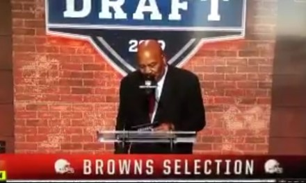 Jim Brown Announced the Browns Second-Round Pick and Said it Was 2013